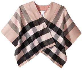 Burberry Charlotte Check Cape Girl's Coat