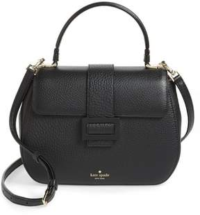Kate Spade Carlyle Street - Justina Leather Satchel - BLACK - STYLE