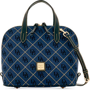 Dooney & Bourke Signature Quilt Zip Zip Medium Satchel, Created for Macy's - MULTI BLACK - STYLE