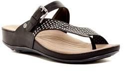 Romika Womens Fidschi 34 Leather Split Toe Casual Slide Sandals.
