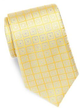 Charvet Checkered Silk Tie