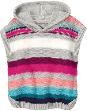 Gymboree Gray & Pink Stripe Hooded Poncho - Infant, Toddler & Girls