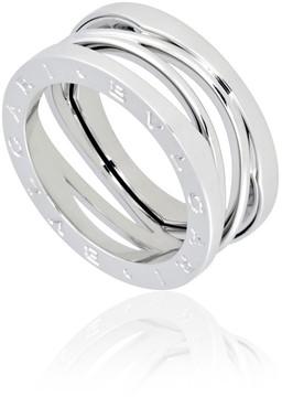 Bvlgari B.Zero1 18K White Gold 3-Band Ring Size 53 (US 6 1/2)
