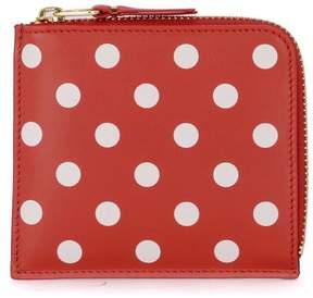 Comme des Garcons Red Polka Dot Leather Wallet