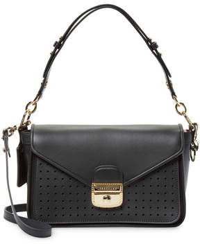 Longchamp Women's Perforated Panel Shoulder Bag - BLACK - STYLE