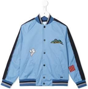 Lanvin Enfant patch bomber jacket