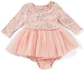 Jessica Simpson Baby Girls Newborn-9 Months Star-Print Mesh Dress