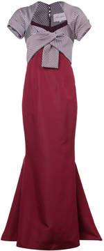 Carolina Herrera contrast fishtail gown