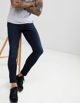 Pull&Bear Super Skinny Jeans In Dark Wash
