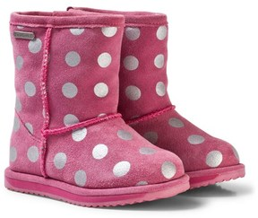 Emu Pink Spotty Brumby Waterproof Boots with Merino Lining