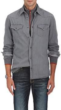 Brunello Cucinelli Men's Denim Western Shirt