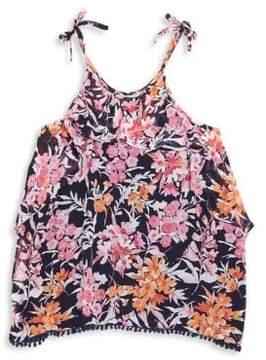 Ella Moss Girl's Ashley Printed Chiffon Top