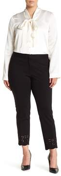 Atelier Luxe Lasercut Ankle Pants (Plus Size)