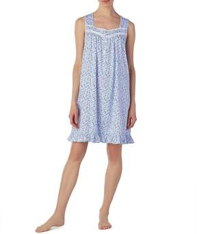 Eileen West Floral-Print Jersey Knit Short Nightgown