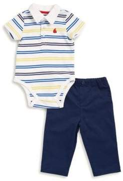 Little Me Baby Boy's Two-Piece Stripe Bodysuit and Pants Set
