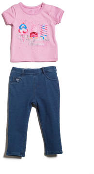 GUESS Short-Sleeve Tee and Jeggings Set (0-24M)