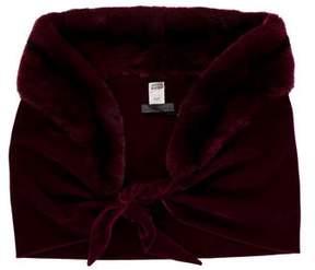 Alberta Ferretti Sheared Fur & Velvet Shawl w/ Tags