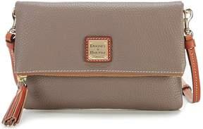 Dooney & Bourke Pebble Collection Fold-Over Tasseled Zip Cross-Body Bag - ELEPHANT - STYLE