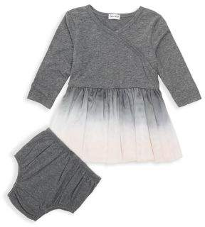 Splendid Baby Girl's Two-Piece Dip Dyed Dress & Matching Bloomers Set