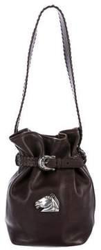 Kieselstein-Cord Whipstitch Leather Bucket Bag