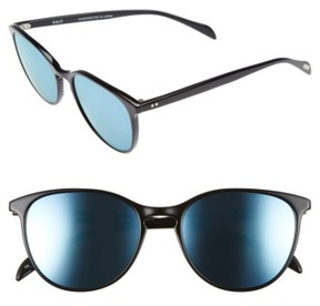 Salt Women's Kiani 53Mm Polarized Retro Sunglasses - Black/ Blue Mirror