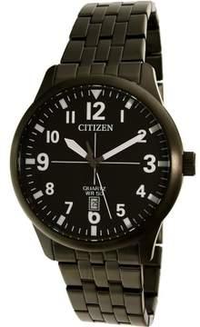 Citizen Men's BI1055-52E Black Stainless-Steel Quartz Dress Watch