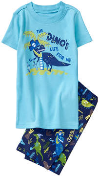 Gymboree Sky Blue 'Dino' Pajama Set - Boys