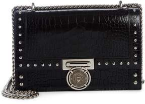 Balmain Stud Leather Box Shoulder Bag