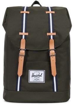 Herschel Men's Retreat Offset Stripe Backpack - Green