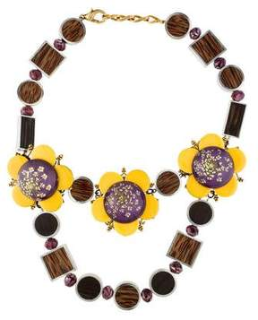 Erickson Beamon Floral Collar Necklace