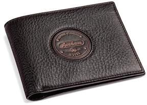 Aspinal of London Aerodrome Billfold Wallet In Dark Brown Pebble
