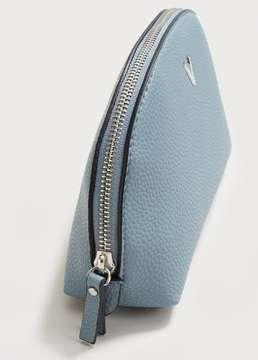Violeta BY MANGO Zipped pebbled cosmetic bag