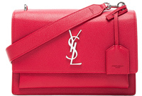 Saint Laurent Medium Monogramme Sunset Satchel in Red. - RED - STYLE