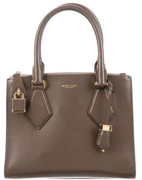 Michael Kors Casey Leather Satchel - BROWN - STYLE