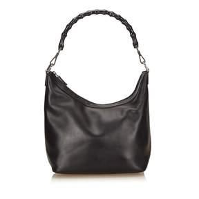 Gucci Bamboo leather handbag - BLACK - STYLE