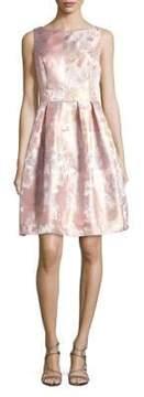 Eliza J Sleeveless Printed Pleat Dress