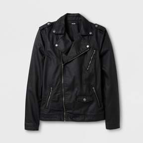 Jackson Men's Coated Denim Moto Jacket Black