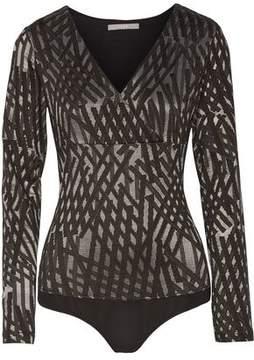 Tart Collections Kelli Wrap-Effect Jacquard Bodysuit