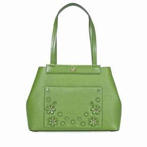 Michael Kors Meredith Medium East West Bonded Tote- True Green - TRUE GREEN - STYLE