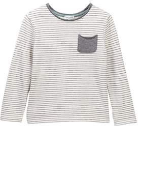 Splendid Striped French Terry Long Sleeved Tee (Toddler Boys)