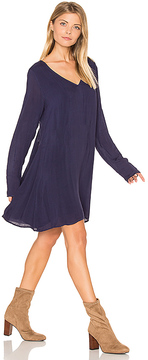 Bella Dahl V Neck Lace Back Dress