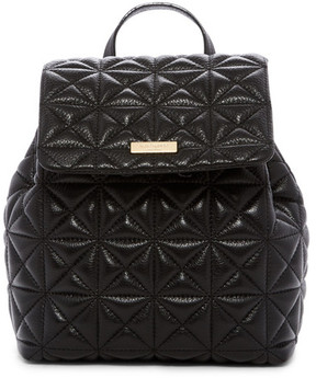 Kate Spade Marley Quilted Leather Backpack - BLACK - STYLE