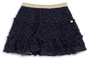 Lili Gaufrette Toddler's& Little Girl's Navy Rose Skirt