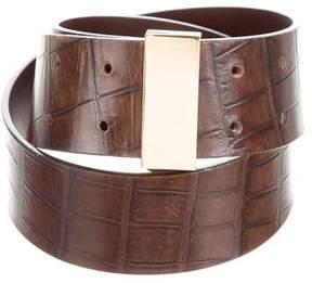 Saint Laurent Embossed Leather Belt