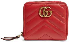 Gucci GG Marmont quilted-leather wallet - RED - STYLE