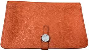 Hermes Dogon leather wallet - ORANGE - STYLE