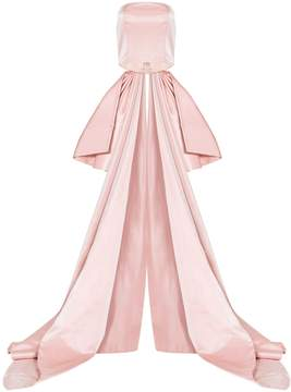 Christian Siriano Back Bow Bustier Top