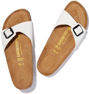 Birkenstock Madrid Sandal in White Patent, Size IT 36