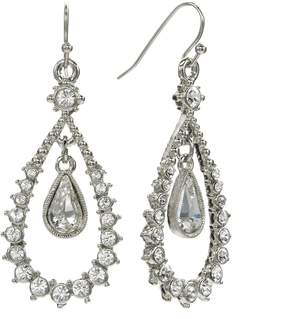 1928 Floating Crystal Teardrop Earrings