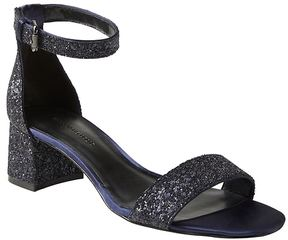 Banana Republic Bare Low Block-Heel Glitter Sandal